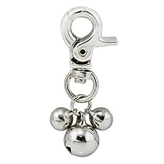 Alohha 2Stück Anhänger für Hunde- oder Katzenhalsband, Anhänger mit drei Glocken zur Verschönerung des Halsbandes oder für Tiertraining