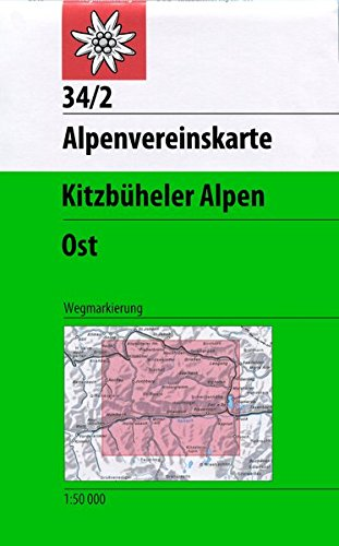 Kitzbüheler Alpen - Ost: Wegmarkierung - 1:50000 (Alpenvereinskarten)