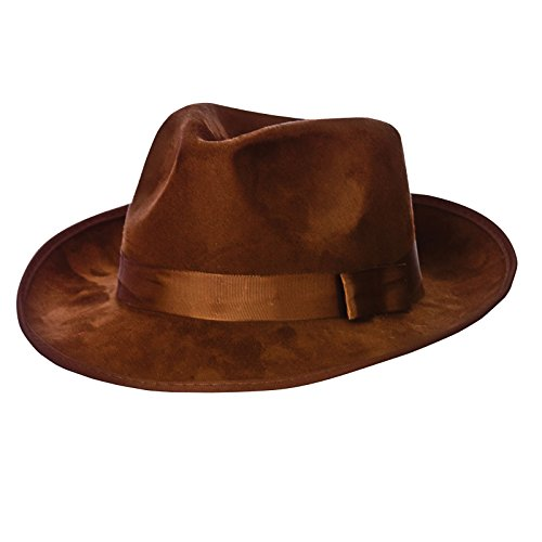 Fedora - Top Quality Brown Suede Fancy Dress (Kostüm Jones Indiana Ideen)