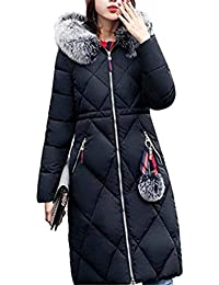 f5c26003f15a Damen Daunenmantel Winter Lang Parka Einfarbig RV-Seitentaschen Mit Zipper  Jungen Mantel Normallacks Langarm Trendigen