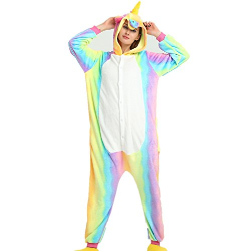 Misslight Flanela Unicornio Cosplay Pijamas Animal Novedad Carnaval Di