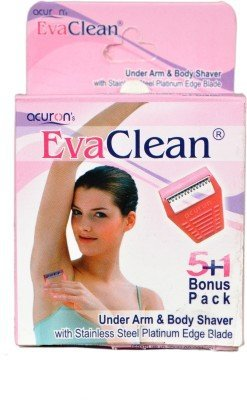 Acuron Eva Clean (Underarm And Body shaver For Women) Disposable Razor  (Pack of 6)  available at amazon for Rs.159