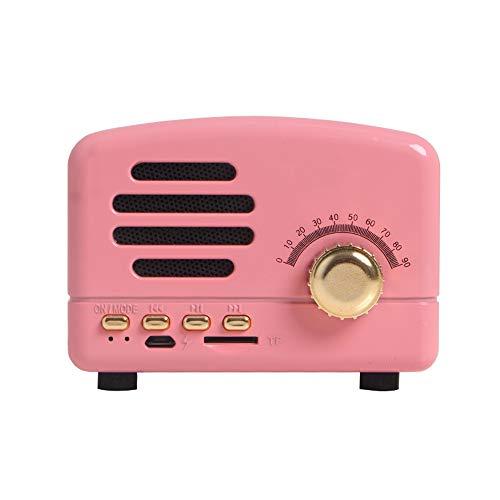 Mini Bluetooth Lautsprecher Outdoor Tragbare Subwoofer Retro Kleine Sound Wireless Computer Radio Subwoofer Karte Telefon Audio WUHX,2