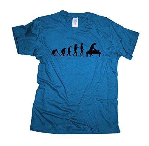 Masseur Regular Rundhals Herren Evolution T-Shirt BC150-royal-xl