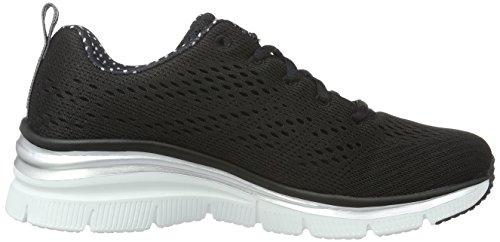 Skechers Fashion Fit Statement Piece, Baskets Basses Femme Noir - Noir/blanc
