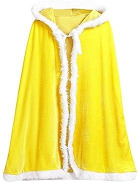 K-youth® Fiesta de Navidad Bebe Niñas Niños de Terciopelo con Capucha Capa del Cabo de Disfraces Cosplay Mascarada