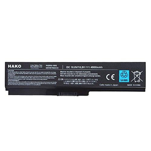 Hako Toshiba Satellite A665d C600 C640 6 Cell Laptop Battery Black Image 2