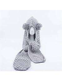 74e25549e4b84 JBLDY Sombrero de Punto Hecho a Mano de Los Niños de Invierno Sombrero de  Babero Protector de Orejas de Forma…