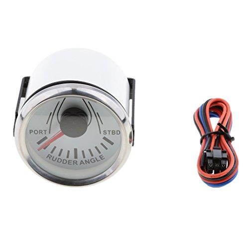 Sharplace 1 Stück Ruderlagenmesser Marine Ruderlagenanzeiger Edelstahl 316L für Langzeiteinsatz - Weißes Chrom (Marine 316)
