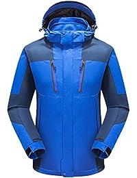 Zhhlaixing 2 in 1 Mens Sports Waterproof Jacket Outdoor Softshell Hooded Fitness Outwear