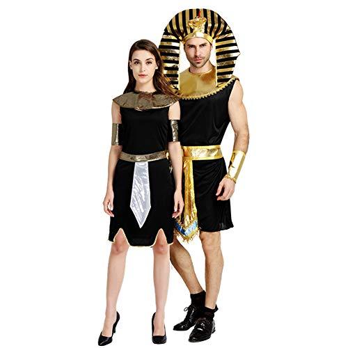 (Halloween Paar Erwachsene Männer und Frauen Zeigen Kostüm Ägyptischen Pharao Outdoor (2 Stück))
