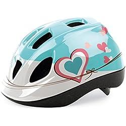 Casco de Ciclismo Antimosquitos para Niña Color Azul y Blanco de Bicicleta 3503C