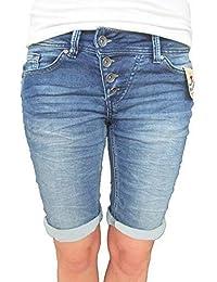 36afe8e3cd20 Buena Vista Damen Jeans Malibu Krempel Shorts Bermuda Hose Capri Joggpants  Sweat Denim