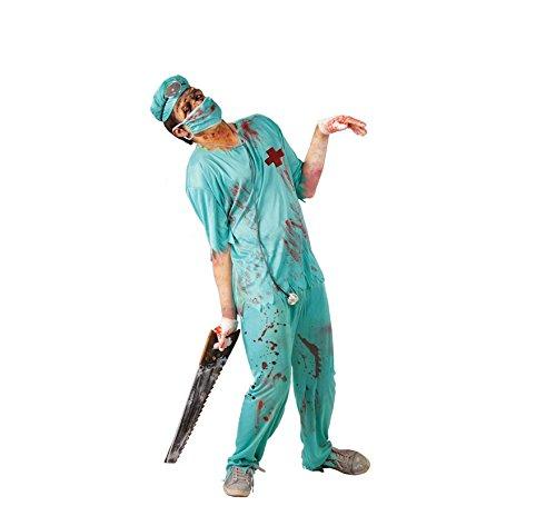 Chirurgen Kostüm - Zombie Chirurg Arzt Kostüm für Herren Gr. M/L, Größe:M