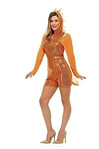 Smiffys 47768S - Disfraz de dragón para mujer, talla S, color naranja