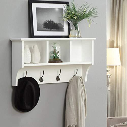 GYC Hölzerne Haushalts-Aufhänger, Wand-Aufhänger, Wand-hängenden Regal-Regal-Zink-Legierungs-Haken-Schlafzimmer-Wohnzimmer-Wandschrank-kreative Wand-Feste Holz-Schließfächer, Wand-Tür-Rückseiten-Mant -
