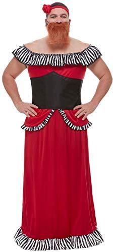 Fancy Me Herren-Kostüm mit Bart-Motiv und großer Zirkus-Show für Junggesellinnenabschied, lustiges Comedy-Outfit (Große Bärtige Kostüm)