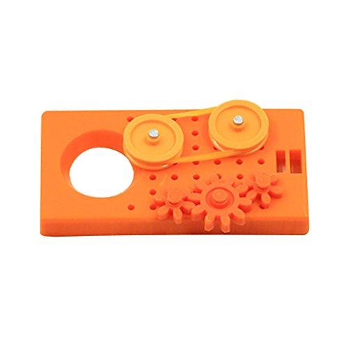 MagiDeal Handgefertigt Zahnrad Übertragung Modell Puzzle Spielzeug für Kinder Wissenschaft Technik Experiment Kit - Orange - Zahnrad-puzzle