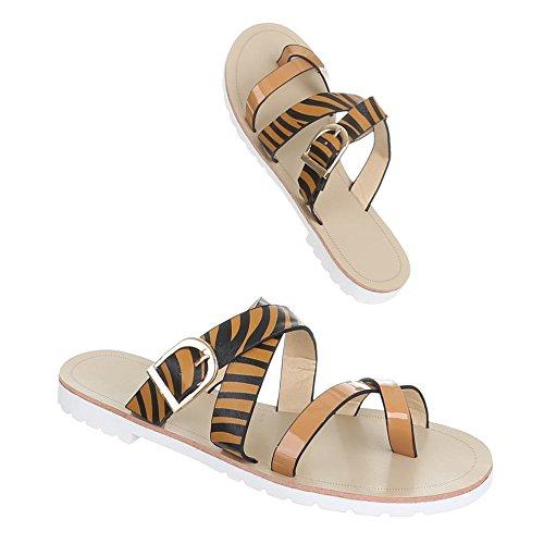 Damen Schuhe Sandalen Schlangen Optik Pumps Beige Schwarz Braun Türkis 36 37 38 39 40 41 Braun Weiß