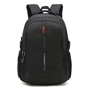 Maod Bolso Portátil Color Sólido Mochilas Escolares Impermeable Mochilas de Escolar Bolsa de Escuela Mujer Laptop Backpack 16 Pulgada (Naranja)