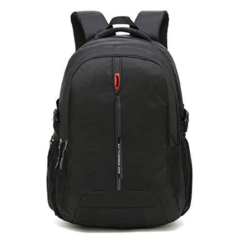 Maod Wasserdichter Rucksack Jungen daypack damen schulrucksack jugendliche schultasche teenager laptop backpack 16 zoll (Schwarz)