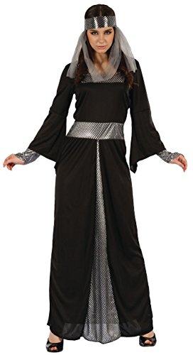 P' tit Clown Costume adulto lusso donna medievale–Nero/Grigio