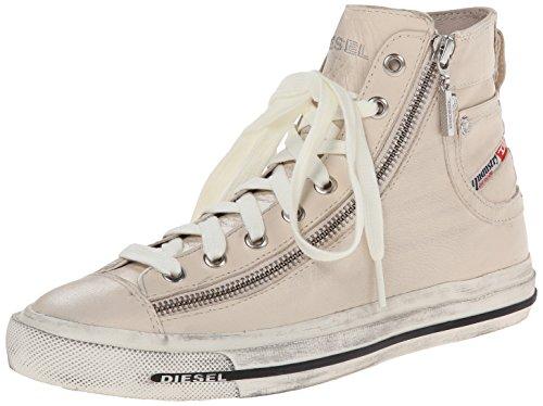 Diesel Magnete Expo-Zip, Sneaker a Collo Alto Donna Elfenbein (Birch White)