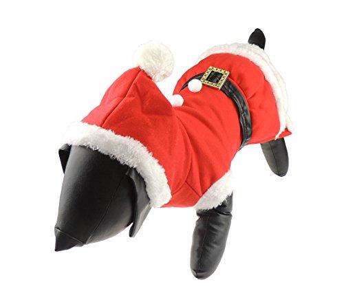 Hund Katze Festliche Weihnachten rot Santa Claus Warm Winter Jumper Coat Outfit Kostüm Frau Pom (Frau Ideen Kostüme Halloween)