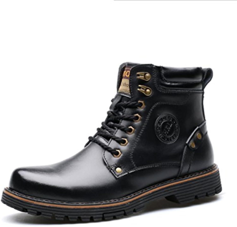 Zapatos De Hombre Martin Botas Militar Táctico Botas De Lobo Antideslizante Confort De Cuero De Vaca Caminando...