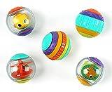 Bright Starts Shake & Spin 5 leicht greifbare Spielbälle die rasseln, kreiseln, klicken und vieles mehr, ab 6 Monaten