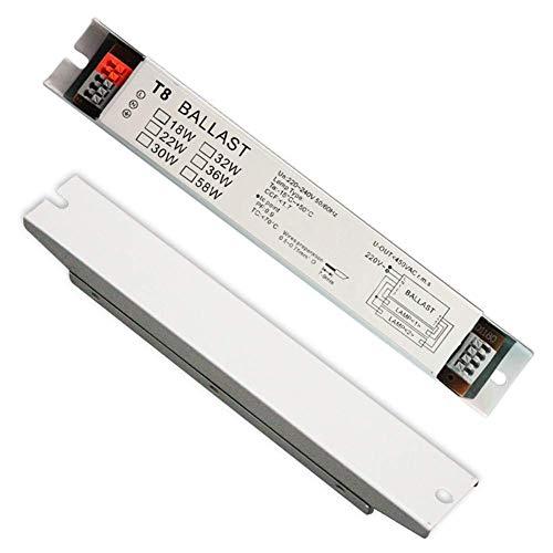 TXYFYP Vorschaltgerät 220-240V Leuchtstoff Lampe T8 Start Universal Breit Spannung Elektronische Instant Glühbirne Show, 2 * 36w