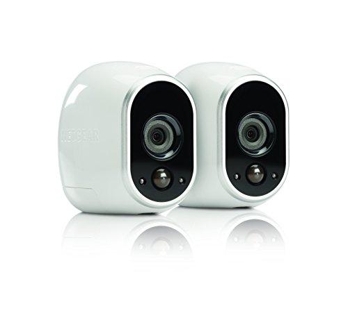 Arlo VMS3230 Sistema di Videosorveglianza Wifi con Due Telecamere di Sicurezza senza Fili a Batteria, Hd, Visione Notturna, Interno/Esterno, App Android & Ios, Funziona con Alexa e Google Wifi - 2