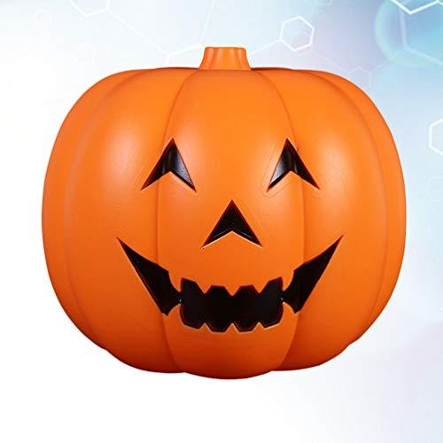 Amosfun Halloween kürbis lampen Jack o 'Laterne Dekoration kürbis Stimme-aktiviertes licht für Restaurant bar Indoor Outdoor Halloween Dekorationen liefert 32 cm ohne Batterie -