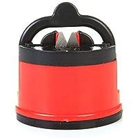 Snner 1 PC afilador de Cuchillo de la Taza de succión para Todos los Tipos de la lámina para la Cocina, Taller, Cuartos del Arte, Camping y Senderismo (Color al Azar)