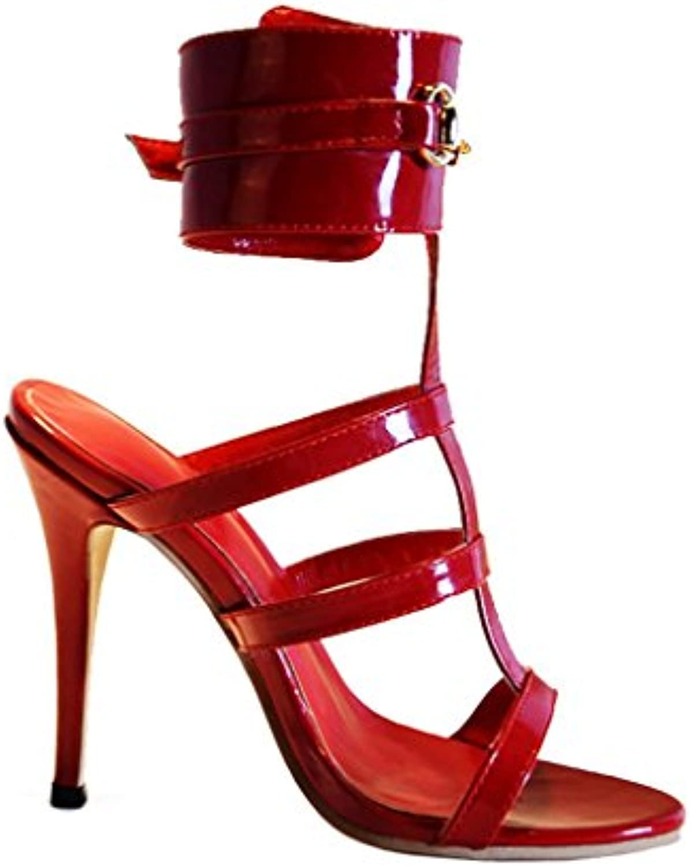 Luxat Space - Sandalias de Vestir de cuero mujer -
