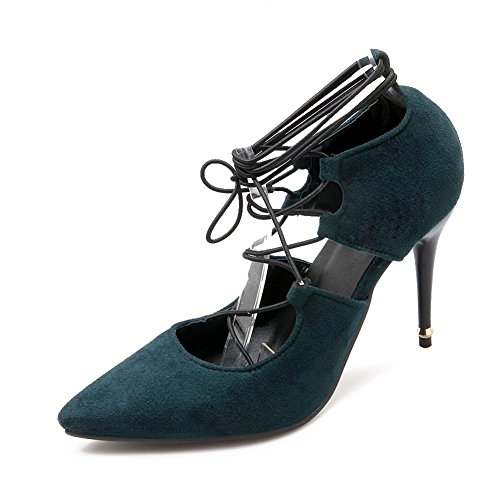 adee-filles-fermeture-a-lacets-romanes-high-heels-polyurethane-pompes-chaussures-vert-darkgreen-42