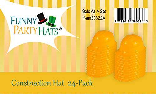 Child Construction Hats 24 Pack