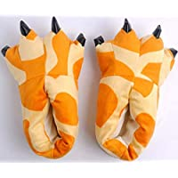 SHANGXIAN Soft Plush Giraffe Slipper For Kids Cosplay Plush Paw Claw Furry Slippers