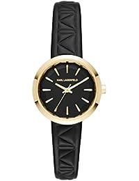Karl Lagerfeld KL1610 - Reloj con correa de cuero, para mujer, color negro