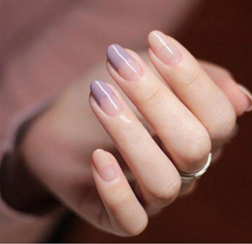 jovono Elegante False Nail Tips Natur French künstliche Nägel für Braut oder Brautjungfern (Nagel-sets Für Teenager)
