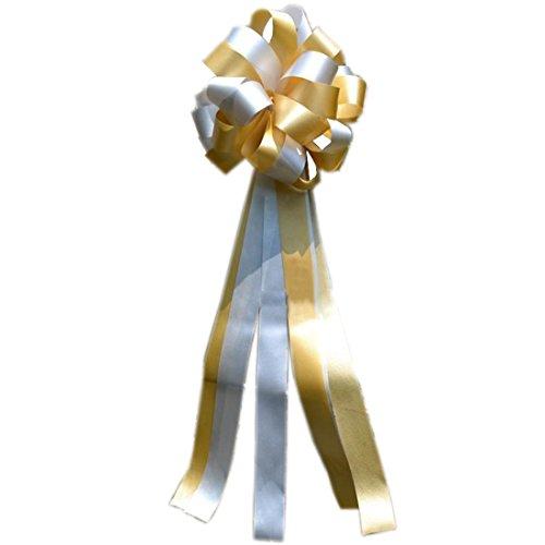 Sannix set di 6fiocchi regalo fiocchi matrimonio fiore mix colori nastro decorazioni per matrimoni, Memorial Day, Veteran S DAY Silver