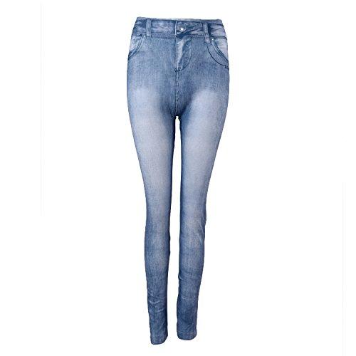 Cikuso Schlussverkauf Frauen Denim Jeans duennes Gamaschen Strecken Hose Blau