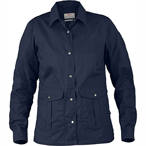 Fjällräven Damen Greenland Shirt Jacket W Softshelljacken Dark Navy