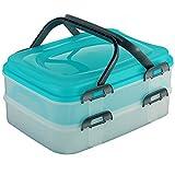 Partycontainer Transport-Box mit 2 Etagen und Hebeeinsatz
