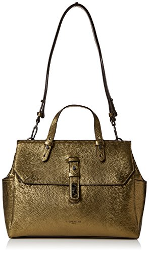 Liebeskind Berlin Damen Idaho Shopper, Gold (Warm Beige Metallic), 12 x 27 x 35 cm