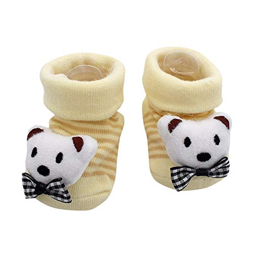 YWLINK Cartoon Neugeborenen Baby MäDchen Süß 3D Tier Cartoon Bequem Socken Anti-Rutsch-Socken Jungen Slipper Schuhe Stiefel