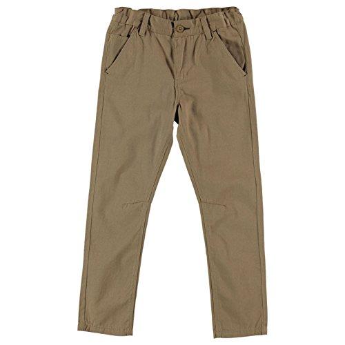 Lee Cooper bambini Tessuto pantaloni CHINO pantaloni lunghi Chino pantaloni tasche cotone Chino da ragazzo sabbia Large