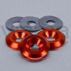 PRO-BOLT - 50162 : Arandela De Aluminio Avellanada M6 Naranja Lwac6-22O