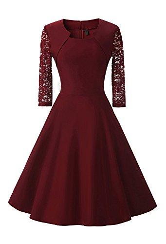 Damen Abendkleid mit angenähtem Bolero und 3/4 Ärmel, (Kostor) A-line und Empire Taille Kleider,...