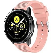 Pulsera Samsung Galaxy Watch Active, MINXINWY Moda Reemplazo Pulserade Color Sólido Reloj Inteligente